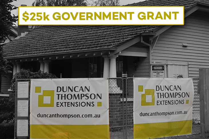 Government $25k building grant